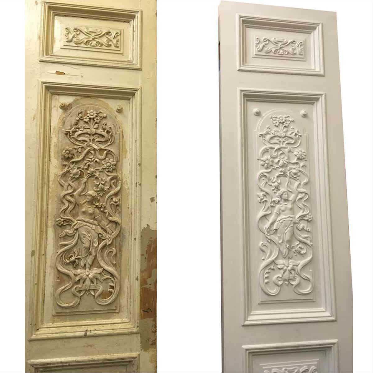 реставрация деревянной межкомнатной двери (старый фонд)