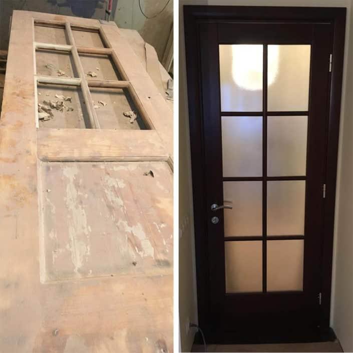 ремонт и восстановление деревянных межкомнатных дверей