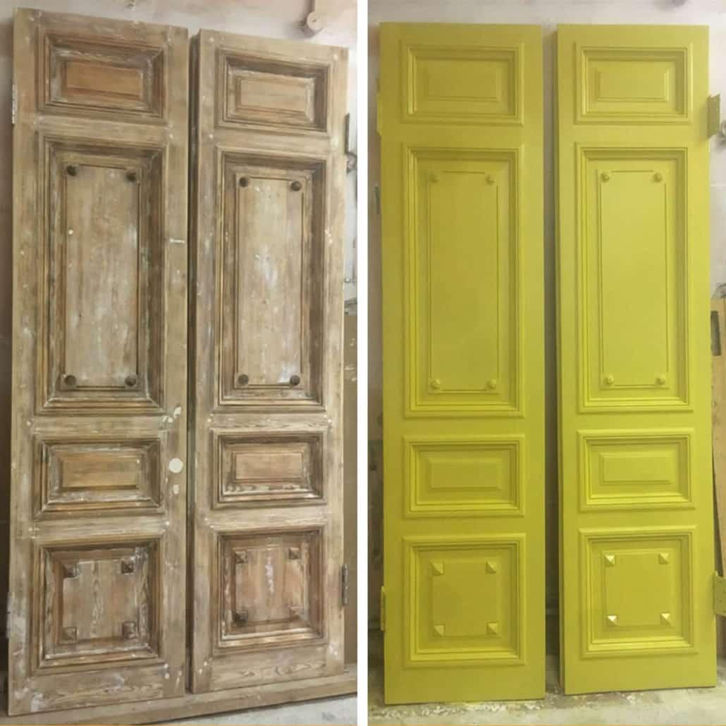 реставрация входных деревянных дверей в СП-б