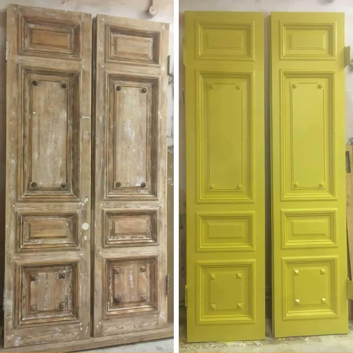 реставрация межкомнатной двери (старый фонд)