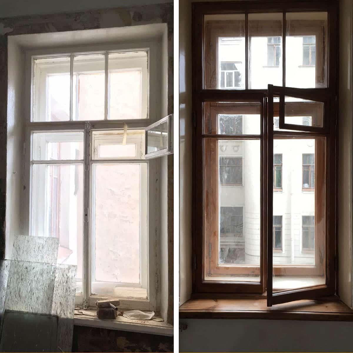 ремонт и реставрация  окна (старый фонд)