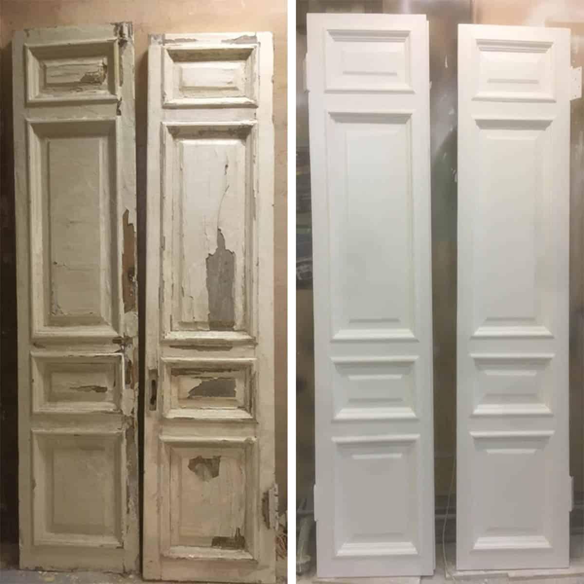 реставрация деревянной межкомнатной двери(старый фонд)