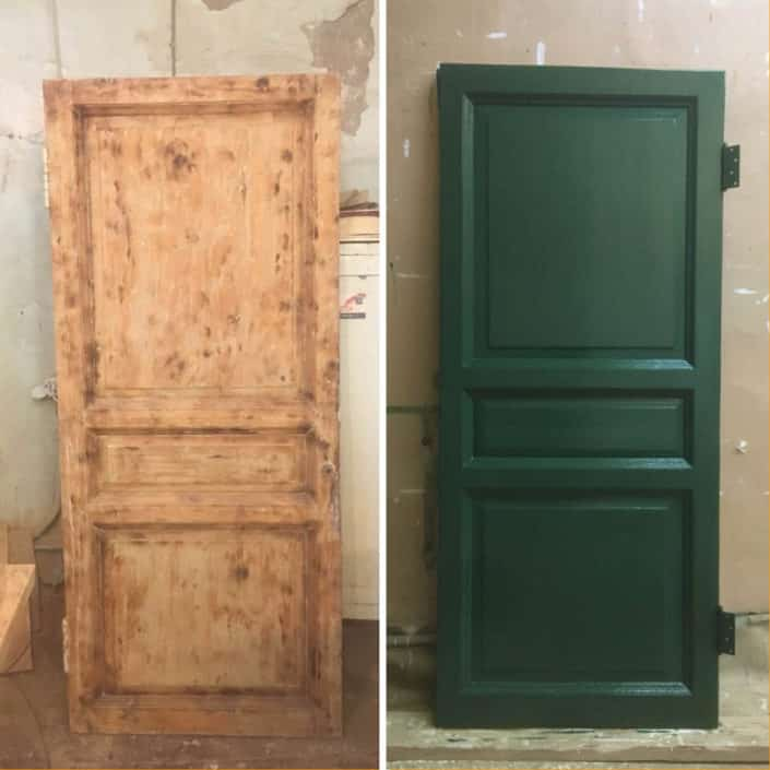 ремонт и реставрация деревянных входных дверей