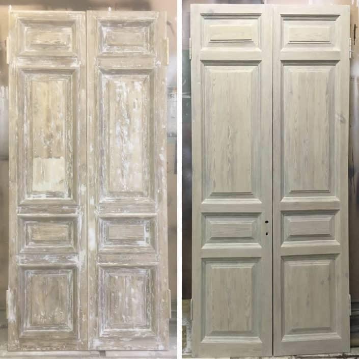 ремонт и восстановление деревянных дверей