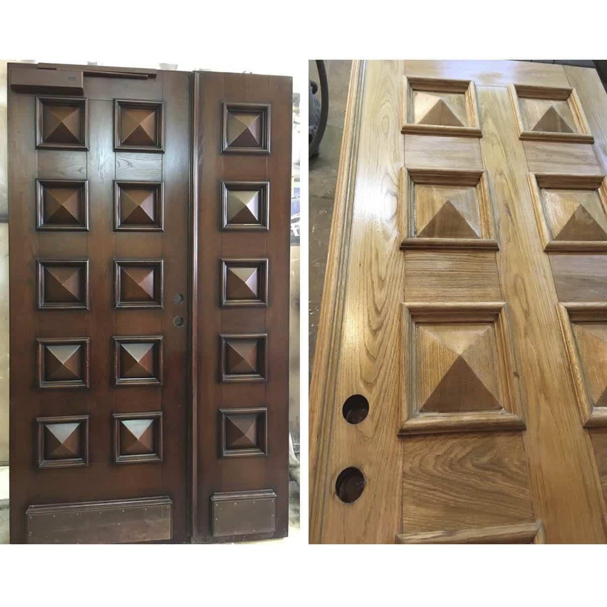 Ремонт и реставрация ходных дверей (до и после выбеливания)