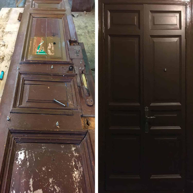 ремонт и реставрация входных дверей (старый фонд)