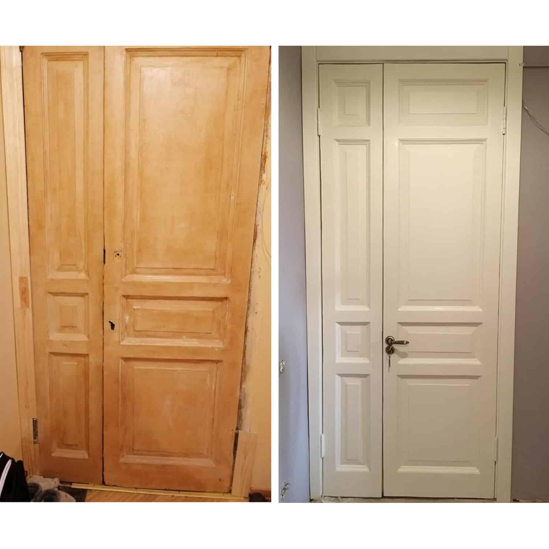 Восстановление покрытия дверей